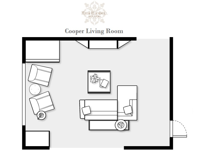 A casual modern living room makeover bria hammel for Living room design floor plan