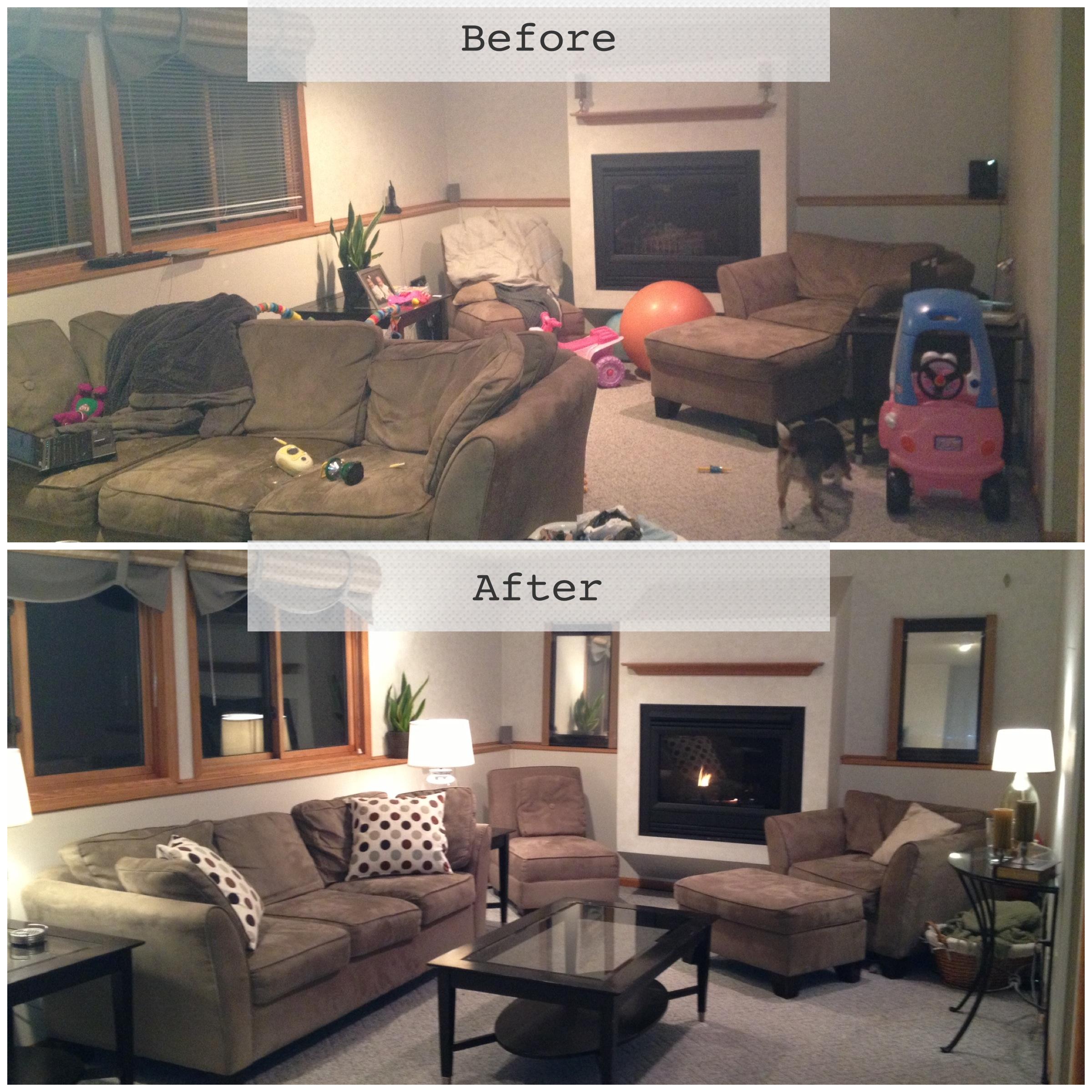 Home staging a humble moment bria hammel interiors for Home staging before and after